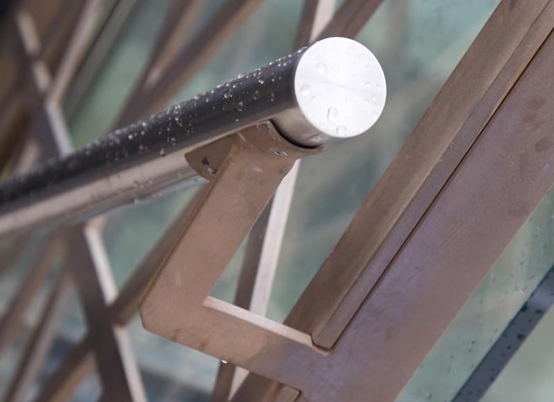 Steel bannister